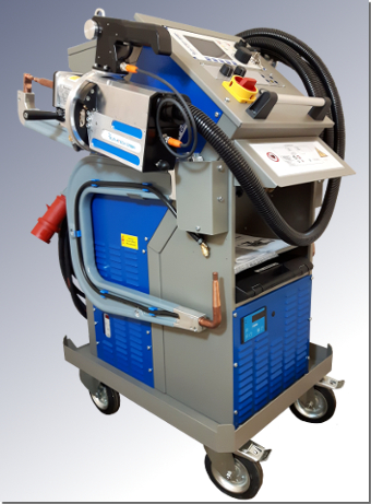 ELMA-Tech spot welding machine PREMIUMspot VISION with internal active water recooling unit.